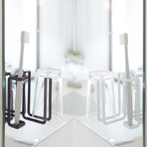 吸盤トゥースブラシ&タンブラーホルダー タワー tower 歯ブラシ立て YAMAZAKI 洗面用品|beau-p