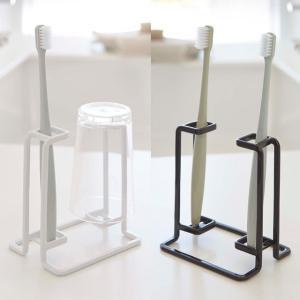 トゥースブラシ&タンブラースタンド タワー tower 歯ブラシ立て YAMAZAKI 洗面用品|beau-p