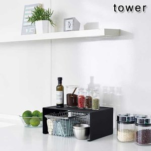 キッチンスチール コの字ラック タワー L TOWER 全2色|beau-p