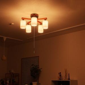 シーリングライト 5灯 フロリア FLORIA ダイニング用 食卓用 プルスイッチ リビング用 居間用 間接照明 和室 和風|beaubelle