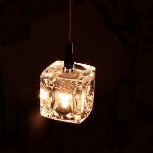 ガラスキューブ LED 1灯 キシマ kishima CUBE ペンダントライト照明 CC-40324 照明器具|beaubelle