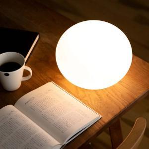 テーブルライト 1灯 シラタマ SHIRATAMA BBF-025 間接照明 フロアライト フロアランプ テーブルランプ ホワイト シンプル ガラス 丸 beaubelle