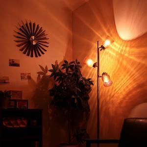 フロアライト 3灯 ラーレ Lare BBF-013 間接照明 フロアランプ 寝室 リビング ガラス レトロ アンティーク おしゃれ beaubelle