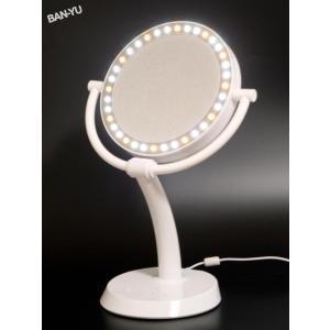 ban-you LEDダイヤモンドミラー LEDメイクアップミラー|beaural