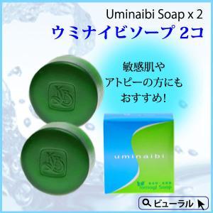 カミヤマ美研 ウミナイビ洗顔石鹸(ヨモギソープ) 2個 beaural