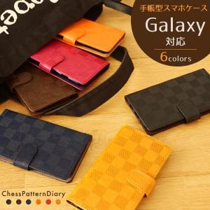 ギャラクシー Note8 S7 S6 S5 S4 スマホケース GALAXY 手帳型 ケース エッジ ギャラクシーS7 SC-02K SC-04J SC-03K SCV37 SCV36 市松模様|beaute-shop