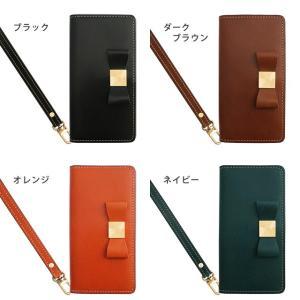 栃木レザー スマホケース GALAXY S10 S10+ S9 S8 ギャラクシー Note10 Note9 SC-03L SC-04L SCV45 リボン 手帳型 ケース 本革 レザー ベルトなし|beaute-shop|03