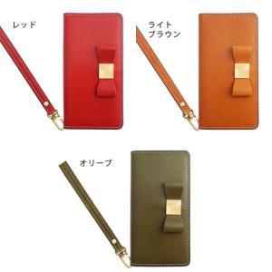 栃木レザー スマホケース GALAXY S10 S10+ S9 S8 ギャラクシー Note10 Note9 SC-03L SC-04L SCV45 リボン 手帳型 ケース 本革 レザー ベルトなし|beaute-shop|04