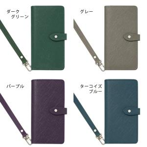 GALAXY S10 ギャラクシー SC-03L SC-04L SCV41 SCV42 手帳型ケース インナーカードケース Note9 Note8 スマホケース 本革 サフィアーノレザー ベルト付き|beaute-shop|05