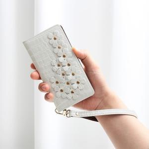ELUGA スマホケース MEDIAS 手帳型 レザー 本革 エナメル クロコダイル ラメ フラワー OPTIMUS REGZA HTC ディズニーモバイル シンプルスマホ ベルトなし|beaute-shop|16
