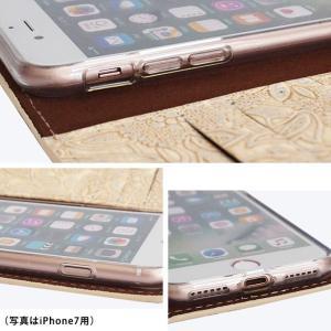 iPhone11 Pro iPhoneXR iPhoneXS XSMax X iPhone8 8Plus iPhone7 イタリアンレザー フラワー スマホケース 花柄 手帳型 本革 本革ケース ベルト付き|beaute-shop|07