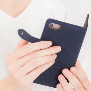 【ネコポス送料無料】 iPhone11 Pro iPhoneXR iPhoneXS XSMax X iPhone8 8Plus iPhone7 アイフォンケース 手帳型 スマホケース 本革 ヌバックレザー ベルト付き|beaute-shop|14