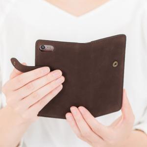 【ネコポス送料無料】 iPhone11 Pro iPhoneXR iPhoneXS XSMax X iPhone8 8Plus iPhone7 アイフォンケース 手帳型 スマホケース 本革 ヌバックレザー ベルト付き|beaute-shop|15