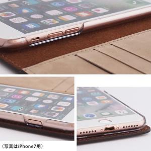 【ネコポス送料無料】 iPhone11 Pro iPhoneXR iPhoneXS XSMax X iPhone8 8Plus iPhone7 アイフォンケース 手帳型 スマホケース 本革 ヌバックレザー ベルト付き|beaute-shop|08