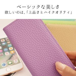 iPhone11 Pro iPhoneXR iPhoneXS XSMax X iPhone8 8Plus iPhone7 アイフォンケース 手帳型 スマホケース 本革 パステル ライチ レザーケース ベルトなし|beaute-shop|02
