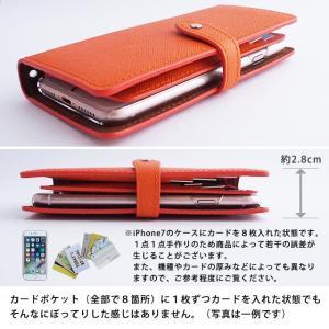 手帳型 ケース インナーカードケース iPhoneXR iPhoneXS XSMax X iPhone8 8Plus iPhone7 アイフォンケース スマホケース サフィアーノレザー ベルト付き|beaute-shop|11