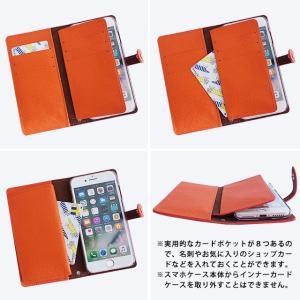手帳型 ケース インナーカードケース iPhoneXR iPhoneXS XSMax X iPhone8 8Plus iPhone7 アイフォンケース スマホケース サフィアーノレザー ベルト付き|beaute-shop|10