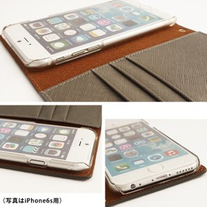 iPhone11 Pro iPhoneXR iPhoneXS XSMax X iPhone8 iPhone7 Plus サフィアーノレザー スワロフスキー スマイリーフェイス 手帳型 スマホケース ベルトなし|beaute-shop|14