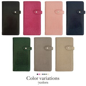 iPhoneXR iPhoneXS XSMax X iPhone8 8Plus iPhone7 iPhone6s アイフォンケース 手帳型 スマホケース レザー トカゲ柄 リザード ベルト付き|beaute-shop|02