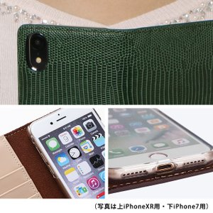 iPhoneXR iPhoneXS XSMax X iPhone8 8Plus iPhone7 iPhone6s アイフォンケース 手帳型 スマホケース レザー トカゲ柄 リザード ベルト付き|beaute-shop|13