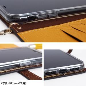 iPhone11 Pro iPhoneXR iPhoneXS XSMax X iPhone8 Plus 花柄 フラワー リバティ コットン 手帳型 スマホケース ハイブリットレザー タッセル付き ベルト付き|beaute-shop|17