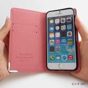 【ネコポス送料無料】 iPhone11 Pro iPhoneXR iPhoneXS XSMax X iPhone8 8Plus iPhone7 アイフォンケース 手帳型 スマホケース サフィアーノ ベルトなし beaute-shop 06