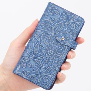 イタリアンレザー フラワー スマホケース シムフリー HUAWEI ASUS ZenFone HTC NEXUS 楽天モバイル 花柄 スマホカバー 手帳型 本革 ベルト付き|beaute-shop|13