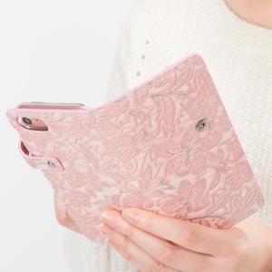 イタリアンレザー フラワー スマホケース シムフリー HUAWEI ASUS ZenFone HTC NEXUS 楽天モバイル 花柄 スマホカバー 手帳型 本革 ベルト付き|beaute-shop|15
