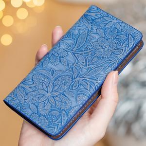 イタリアンレザー フラワー スマホケース シムフリー HUAWEI ASUS ZenFone HTC NEXUS 楽天モバイル スマホカバー 手帳型 本革 花柄 ベルトなし beaute-shop 12