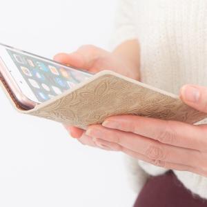 イタリアンレザー フラワー スマホケース シムフリー HUAWEI ASUS ZenFone HTC NEXUS 楽天モバイル スマホカバー 手帳型 本革 花柄 ベルトなし beaute-shop 13