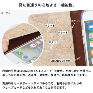 イタリアンレザー フラワー スマホケース シムフリー HUAWEI ASUS ZenFone HTC NEXUS 楽天モバイル スマホカバー 手帳型 本革 花柄 ベルトなし beaute-shop 08