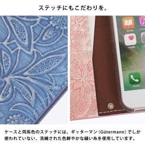 イタリアンレザー フラワー スマホケース シムフリー HUAWEI ASUS ZenFone HTC NEXUS 楽天モバイル スマホカバー 手帳型 本革 花柄 ベルトなし beaute-shop 10