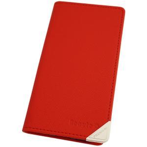 アウトレット 半額以下 らくらくスマートフォン3 スマホケース らくらくスマホ3 F-06F スマホカバー 手帳型 オリジナル セール 特別価格 レッド|beaute-shop