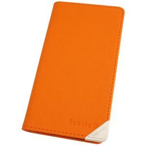 アウトレット 半額以下 エクスペリア スマホケース XPERIA acro SO-02C スマホカバー 手帳型 オリジナル セール 特別価格 オレンジ|beaute-shop