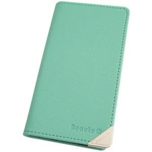 アウトレット 半額以下 レグザフォン スマホケース REGZA PHONE T-02D スマホカバー 手帳型 オリジナル セール 特別価格 クリームミント|beaute-shop