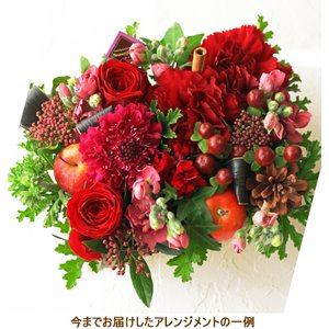 花 ギフト プレゼント フラワー フラワーケーキ 還暦 誕生日 生花 レッド フラワーアレンジメント お祝い お見舞い 画像 花を贈る w-r|beautiful-boy