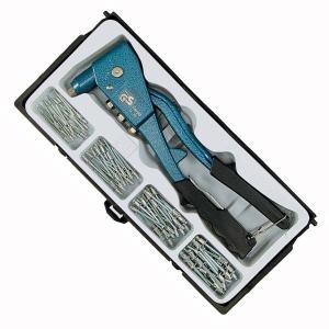 ●金属板の接合、固定に便利なハンドリベッターのセットです。 ●金属板の接合が簡単にできるハンドリベッ...