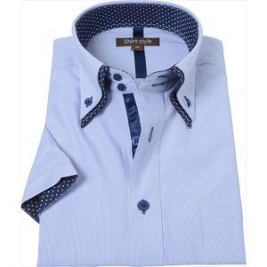 ワイシャツ ストライプ ストライプシャツ 半袖ワイシャツ メンズ yシャツ カッターシャツ ドレスシ...