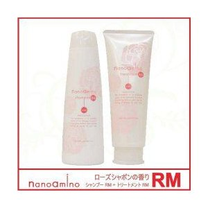 ニューウェイジャパン ナノアミノ シャンプー RM-RO 250ml+ トリートメント RM-RO 250g(ローズシャボンの香り)セット|beauty-fleur