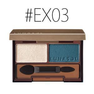 カネボウ ルナソル (#EX03)ディープコントラスティングアイズ #Cool Navy 3g(限定)(W_43)
