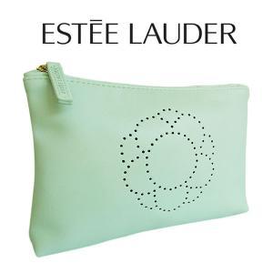 【EsteeLauder】エスティローダー ミントグリーンポーチ(001) 【コスメポーチ 可愛い ...