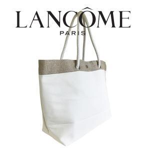 ランコム ホワイトトートバッグ(001)(W_339)|beauty-land