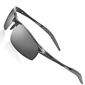 スポーツサングラス 偏光サングラス 超軽量メタル UV400 紫外線カット 落下防止 超抗衝撃 男女兼用 ドライブ / ランニング / ゴル beautydawn