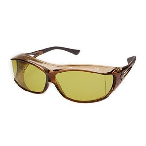 オーバーサングラス AXE(アックス)SG605P-LBR MG マヅメグリーン メガネの上から掛ける 偏光サングラス マヅメ 釣り用 beautydawn