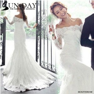 ウェディングドレス、二次会、ロングドレス、オフショルダー、ウエディングドレス、可愛いhs094|beautydream