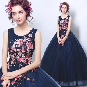 新年セール カラードレス、ウェディングドレス、高級ドレス、二次会、演奏会、ステージドレス、極めて豪華、可愛い姫系、エンパイアライン hs2186|beautydream