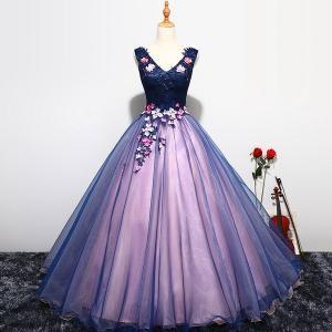ウェディングドレス カラードレス、カラードレス ロング、結婚式、演奏会、パニエ付、可愛い刺繍花、二次会、ステージ、姫系、エンパイアhs2862|beautydream