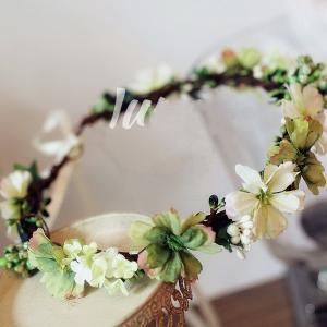 2017花冠ティアラ、ウエディング 花冠、花かんむり、ヘアアクセサリー、 結婚式、ウエディング、ヘッドアクセ、花輪、パーティsp1025|beautydream