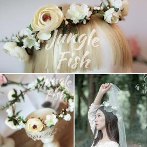 2017花冠ティアラ、ウエディング 花冠、花かんむり、ヘアアクセサリー、 結婚式、ウエディング、ヘッドアクセ、花輪、パーティsp1027|beautydream