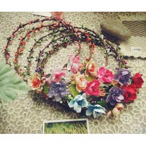 花冠、カチューシャ、クラシック、森ガール、ボヘミア、ウエディング、ガーデンウエディング sp430|beautydream